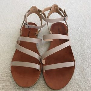 Lucky Brand Strappy Tan Sandals